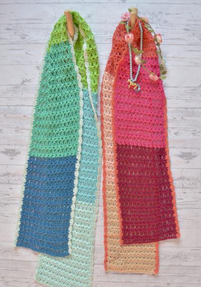 Magnifiek Vijf kleuren sjaal ! - ByClaire - Haakpatronen, Haakboeken, Haakgaren @YC56